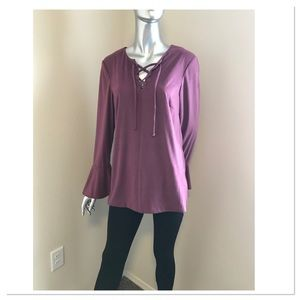 Purple Faux Suede Top